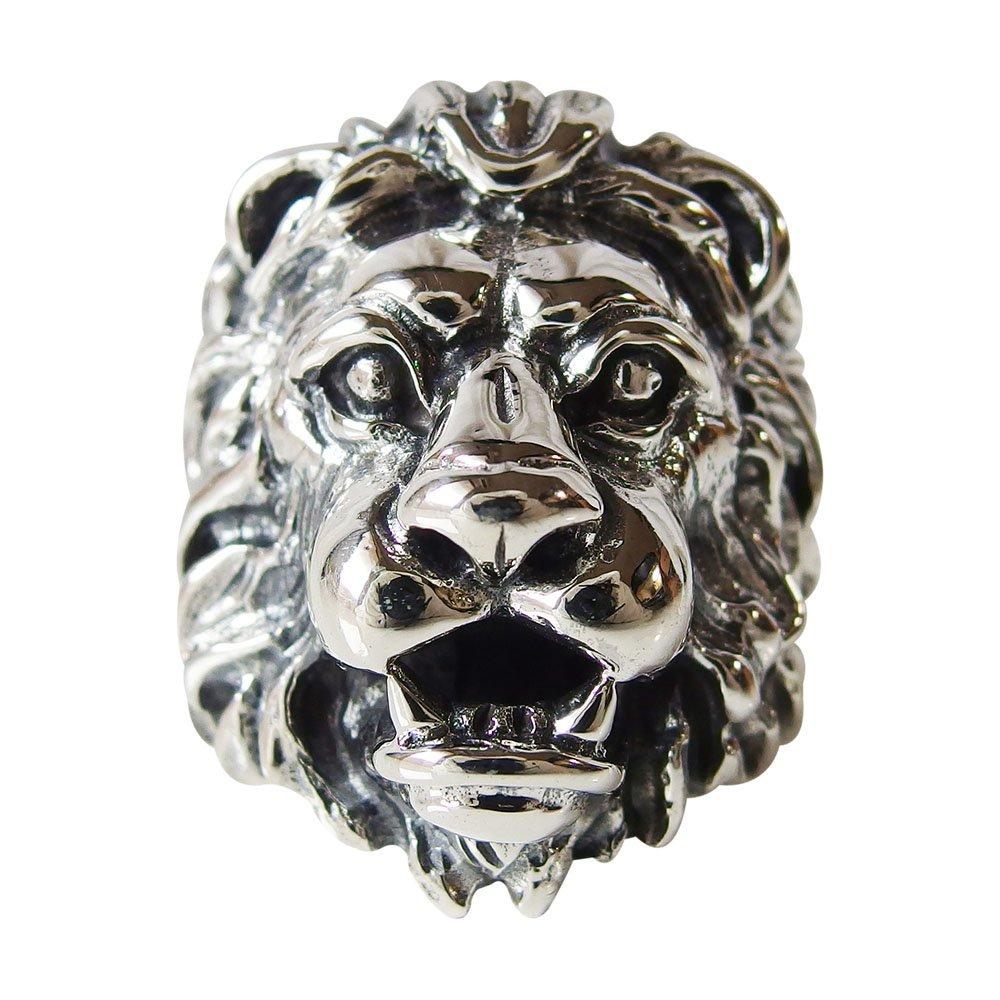 ライオン ペンダント ネックレス 動物(pendant necklace lion) ライオンリング(1) 動物 メイン 銀リング 指輪 シルバー925 メンズ 送料無料 おしゃれ ホワイトデー お返し