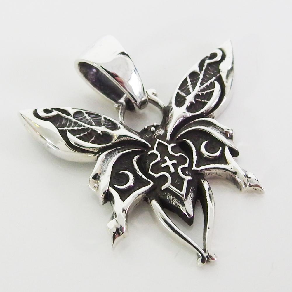 シルバー925 ネックレス 銀色 silver neckace \50%OFFセール/ダークバタフライトップ(1) メイン シルバー925 ペンダント動物銀ペンダントトップ ネックレス メンズ レディース 送料無料 おしゃれ