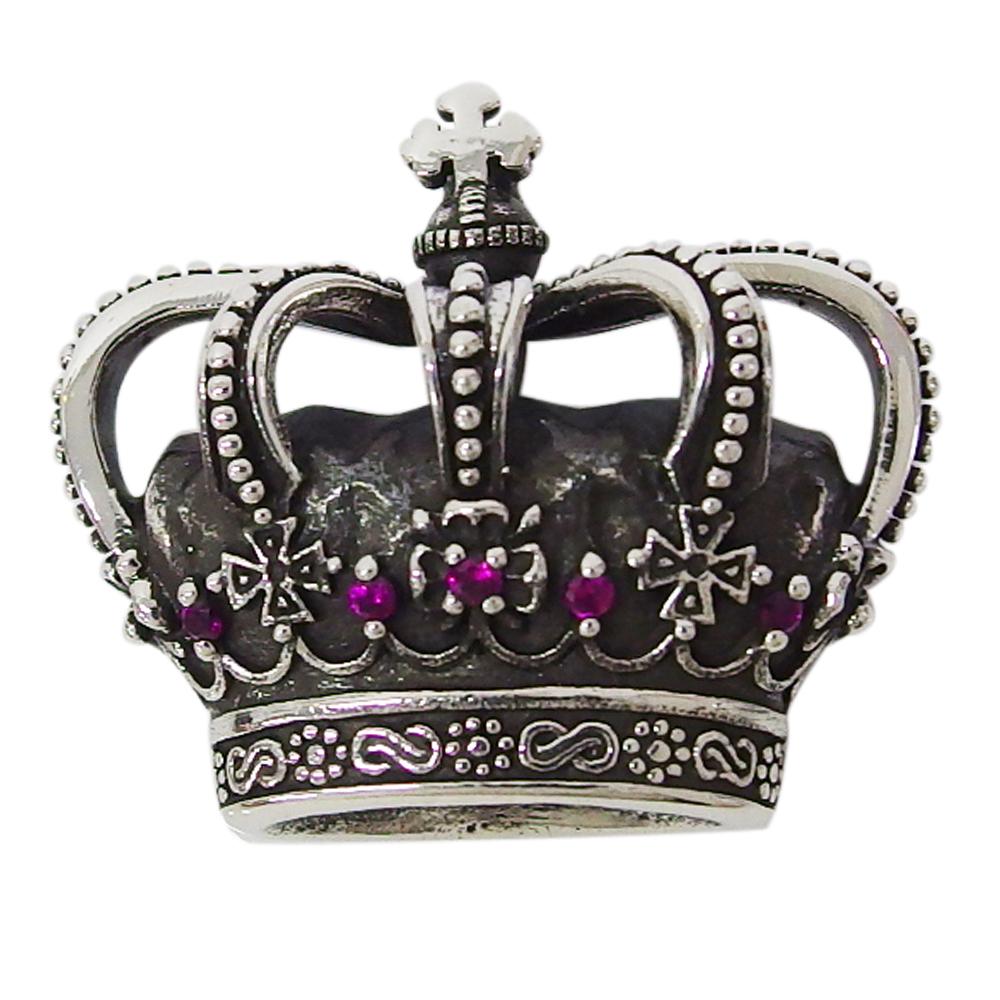 ハーフクラウントップ(1)RCZ 王冠 ネックレス メンズ レディース aft