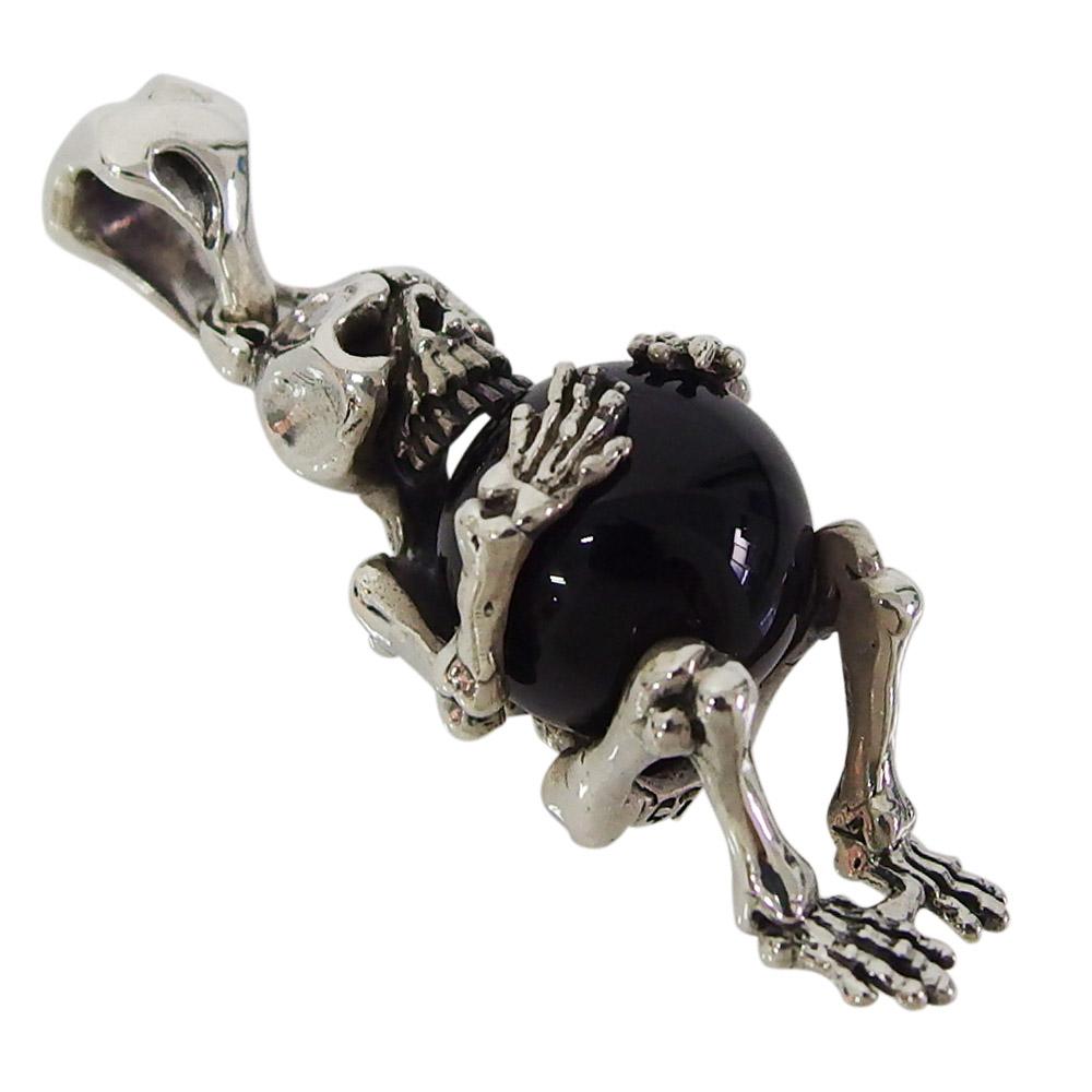 (DB)ビッグキャッチスカルトップ黒 スカル ドクロ 骸骨 メイン シルバー925 銀 ブランド ネックレス メンズ レディース スカル ペンダント アクセサリー 送料無料 おしゃれ