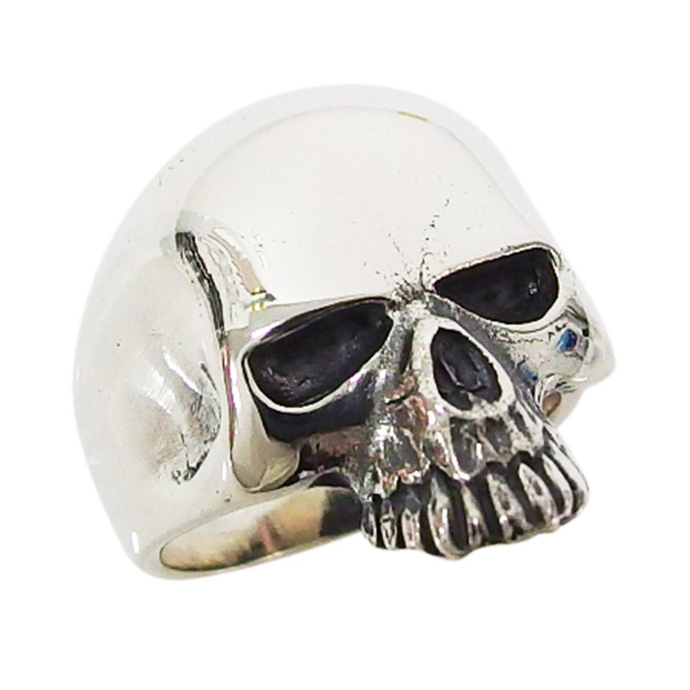 初回限定 シンプル スカル リング 指輪 ドクロ メンズ 送料無料 メイン 1 ハンドメイド シンプルスカルリング ショッピング おしゃれ 銀