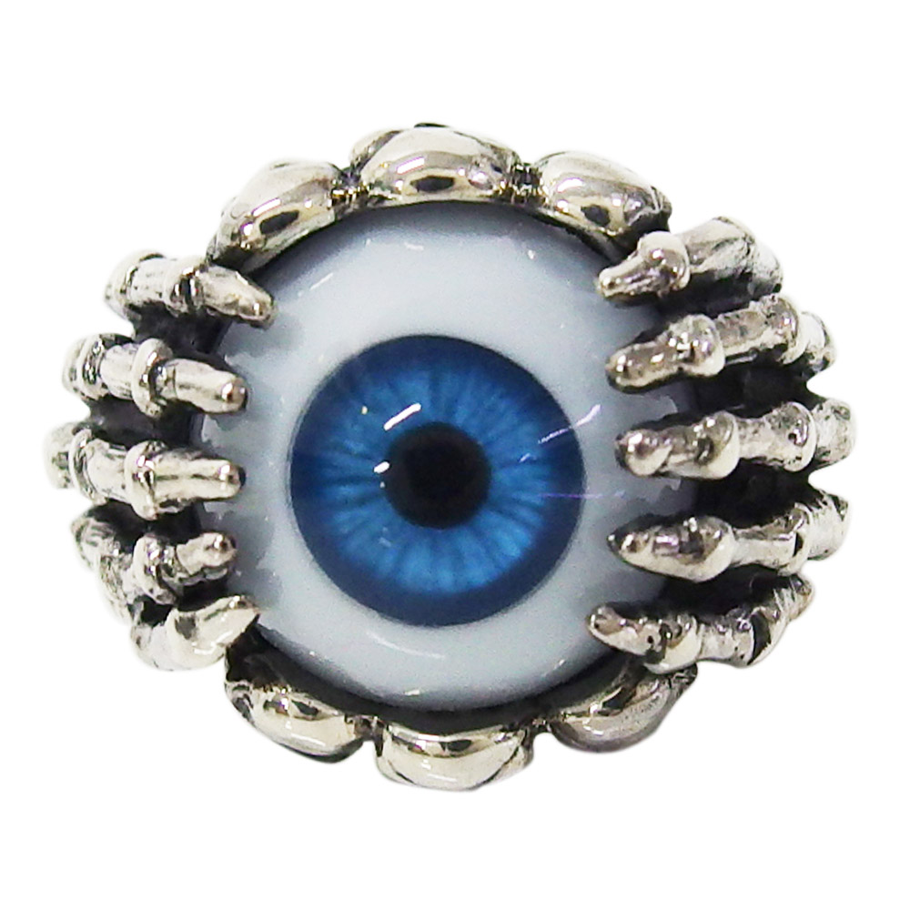 義眼リング(3)青 ドクロ メイン メンズ 送料無料 おしゃれ