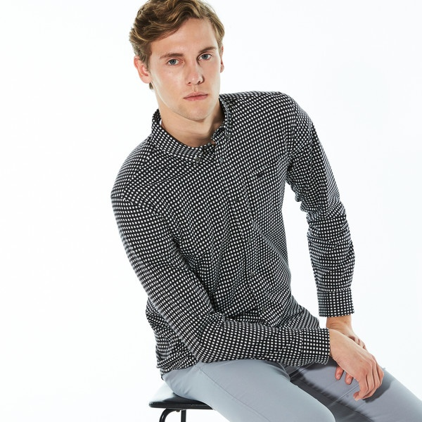 ギンガムチェックボタンダウンシャツ/ラコステ