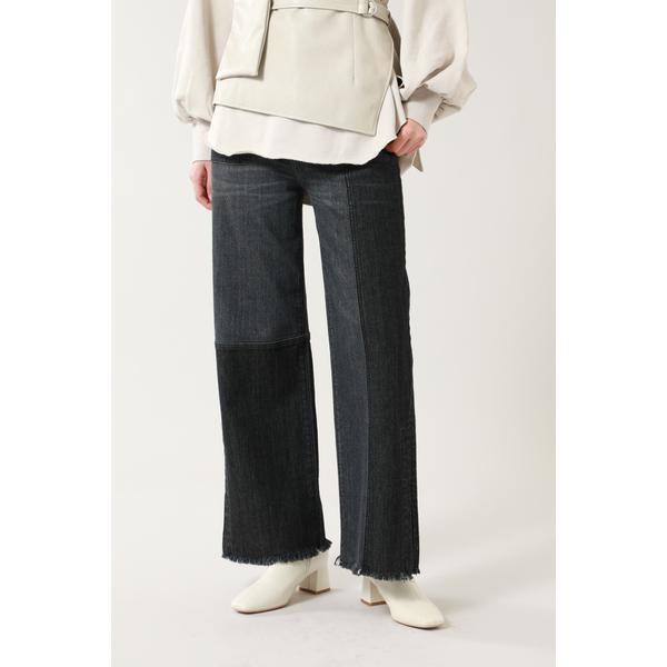 価格 パンツ カラーブロックデニムパンツ ローズバッド 定番スタイル