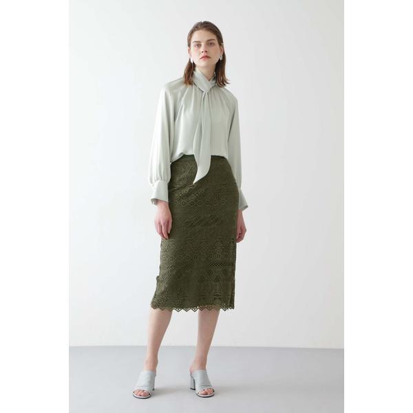 ギフ_包装 スカート 新作製品、世界最高品質人気! ボーダーレーススカート ボッシュ