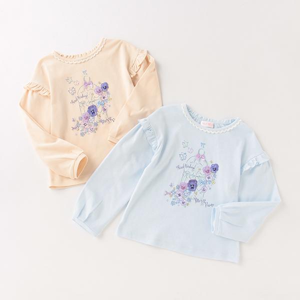 供え SALE Tシャツ カットソー 鳥かごプリントTシャツ 日本限定 メゾピアノ