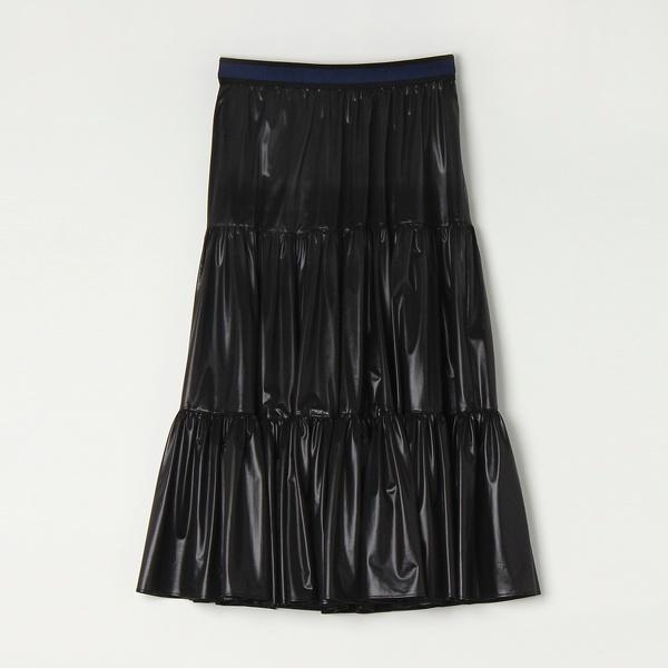 NEW 美品 その他スカート ナチュラルワッシャーティアードスカート 25%OFF リズム