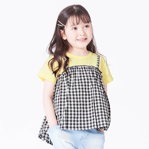 SALE - 高級な ビスチェ付きチェック エフオーオンラインストア 保証 ドットTシャツ