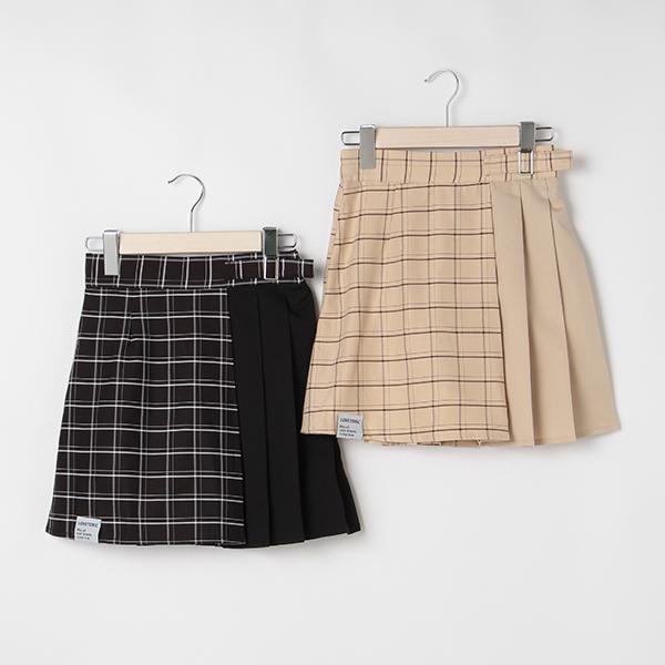 SALE スカート メイルオーダー チェック切り替えプリーツスカパン [並行輸入品] ラブトキシック