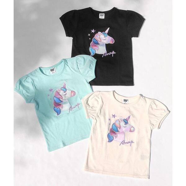 SALE Tシャツ カットソー ガール 価格交渉OK送料無料 アナップキッズ メーカー直送 ユニコーンパフスリーブTシャツ
