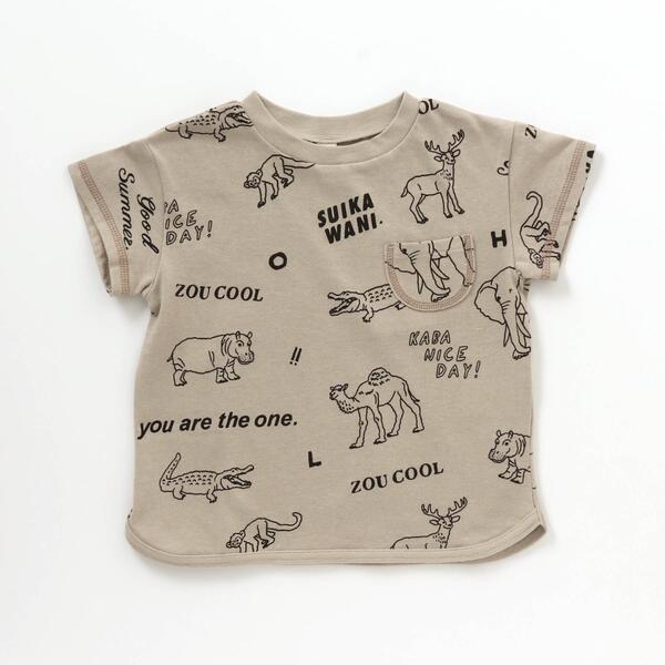 SALE 早割クーポン - エフオーオンラインストア 内祝い アニマル総柄Tシャツ