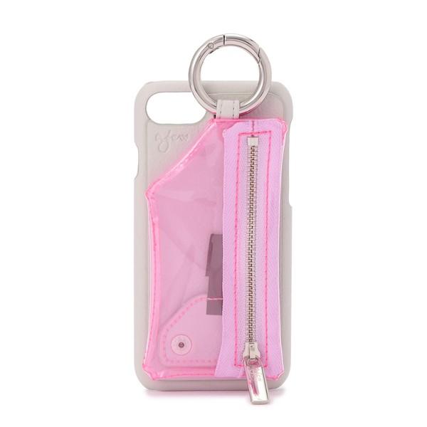 - ajew/エジュー/Clear Zip iPhone 6/6s/7/8/SE2/ロイヤルフラッシュ