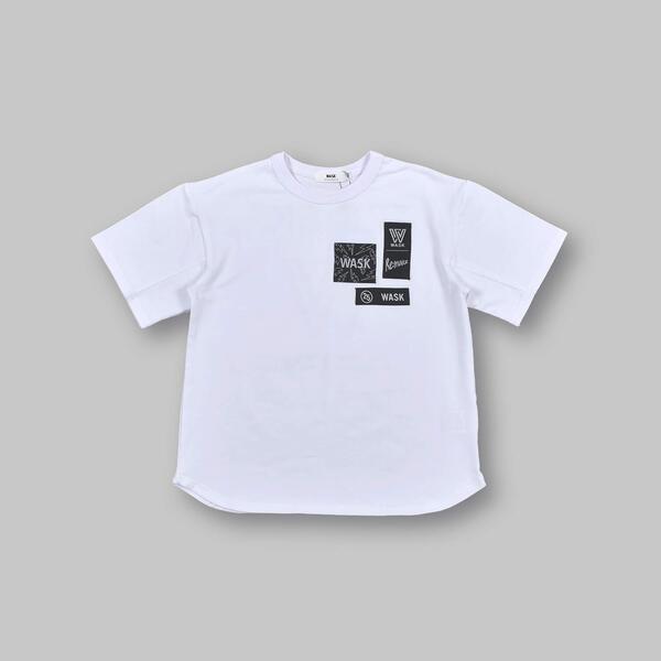 SALE Tシャツ カットソー ネーム 付き ロゴ ビッグ 冷感 スピード対応 全国送料無料 誕生日プレゼント Tシャツ 半袖 100~160cm ワスク