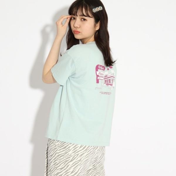 SALE 代引き不可 その他トップス 大規模セール コットン100% ピンクラテ バックグラフィックTシャツ