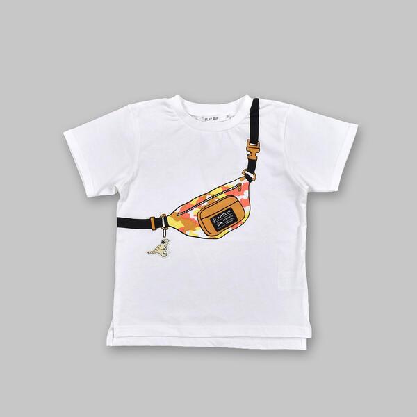 SALE おしゃれ ウエストポーチ トロンプルイユ 天竺Tシャツ スラップスリップ 80 80~130cm オープニング 大放出セール