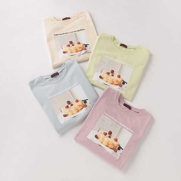 SALE Tシャツ カットソー ラブトキシック カフェフォトプリント半袖Tシャツ ☆正規品新品未使用品 人気ブレゼント!