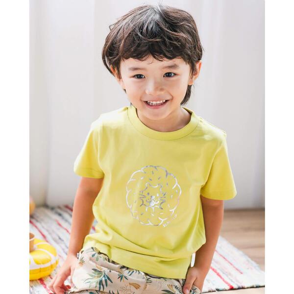 SALE Tシャツ 訳あり カットソー 箔プリント アニマル 特別セール品 Tシャツ 80~130cm 天竺 スラップスリップ ドーナツ