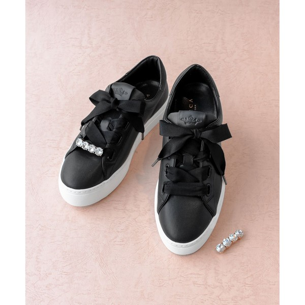 LACE UP RIBBON SNEAKERS ス LACE UP RIBBON SNEAKERS スニーカー/トッカ