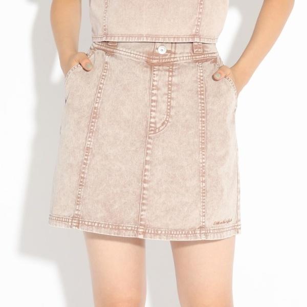 人気ブランド多数対象 スカート ここはコラボニコラ掲載商品 いよいよ人気ブランド ハイウエストデニムミニスカート ピンクラテ