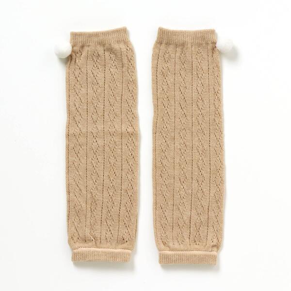その他レッグウェア 春の新作シューズ満載 ケーブル編み梵天レッグウォーマー エフオーオンラインストア 割り引き