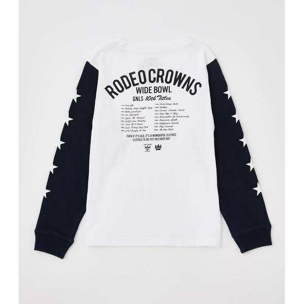 NEW その他トップス 国産品 キッズ 10th 新作からSALEアイテム等お得な商品 満載 STARS L Tシャツ S ロデオクラウンズ ワイドボウル