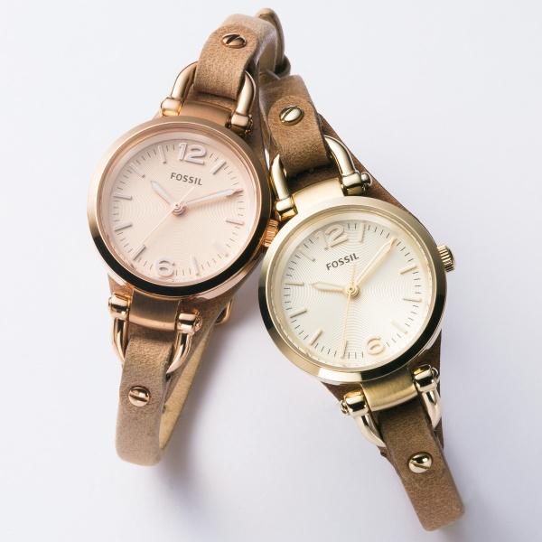 レディース時計(GEORGIA【ES3262】アナログ・革ベルト・50g以下)/フォッシル(FOSSIL)【レディース腕時計】