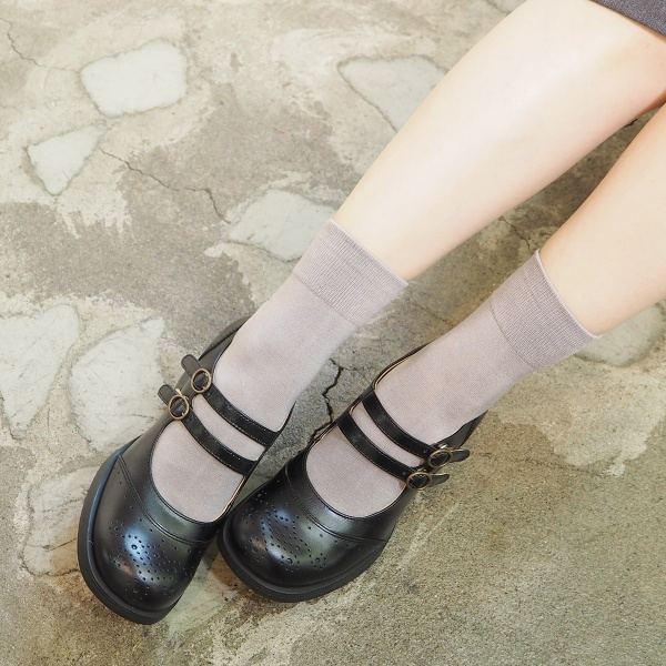ダブルストラップパンプス/あしながおじさん(ashinaga-ojisan)