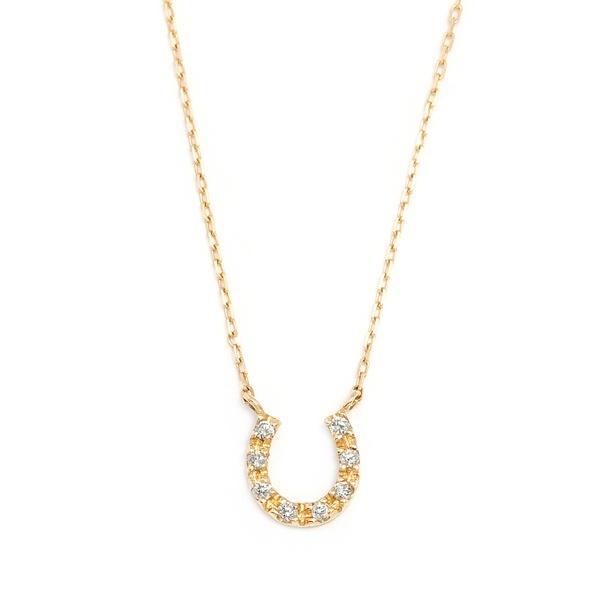 K10イエローゴールドダイヤモンド馬蹄ネックレス/ブルーム(BLOOM)