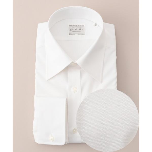 【形状安定】【レギュラーカラー】プレミアムプリーツ ドレスシャツ/五大陸(gotairiku)