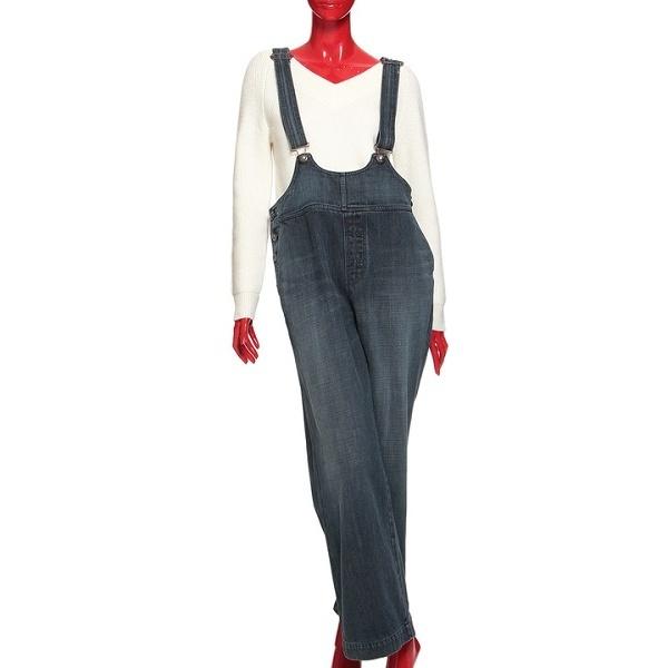 13ozブルーブラックデニムオーバーオール/ダブルスタンダードクロージング(DOUBLE STANDARD CLOTHING)