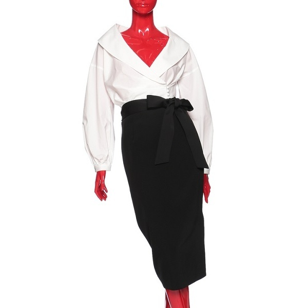 Jコットンハイパワーブロード<カシュクール> (STORY9号掲載) (Marisol11月号掲載)/ダブルスタンダードクロージング(DOUBLE STANDARD CLOTHING)