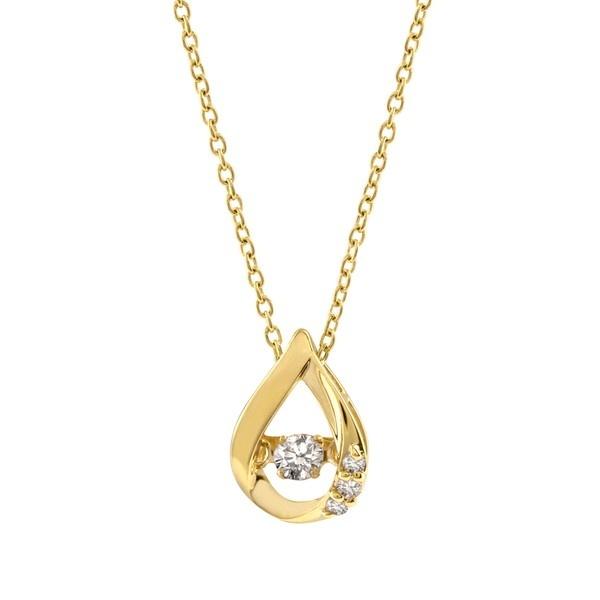 【ダンシングストーン】K10エローゴールドダイヤモンドネックレス/エステール(ESTELLE)