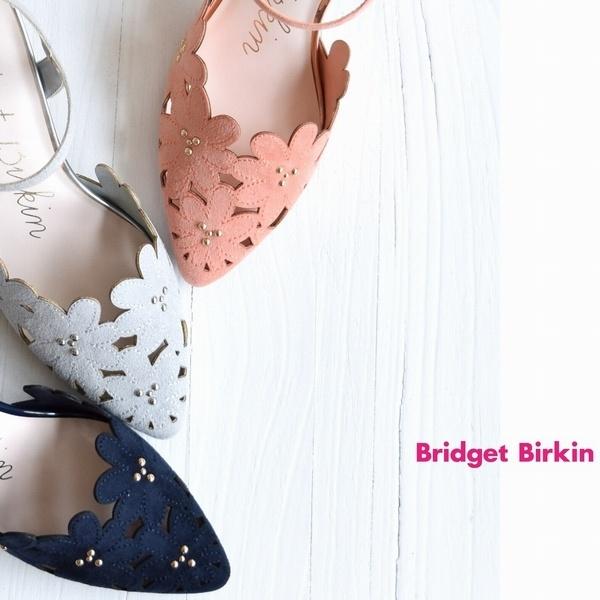 【定番商品】フラワーカットワークセパレートパンプス/ブリジット バーキン(Bridget Birkin)