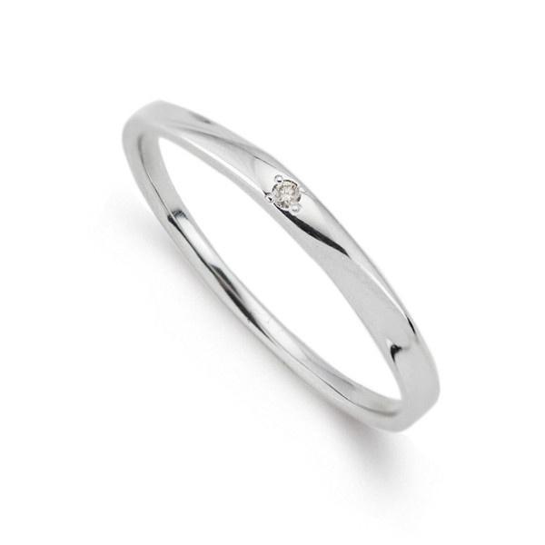 K10ホワイトゴールドダイヤモンドペアリング/ブルーム(BLOOM)