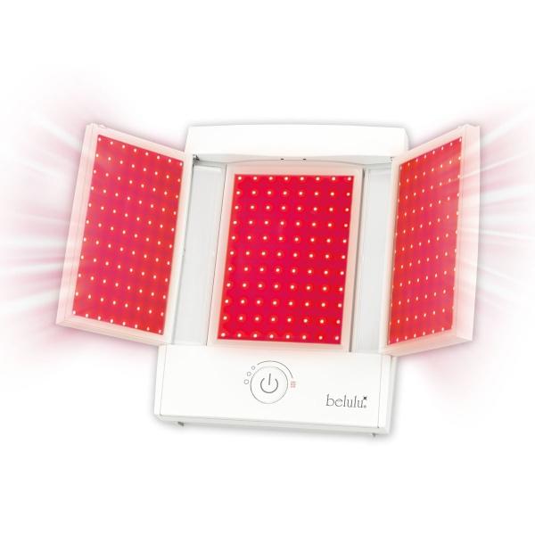 【光LED(赤)にメイクに便利な3色ライト付拡大鏡を搭載】美ルルドレッシー/ビューティゲート(Beauty Gate)