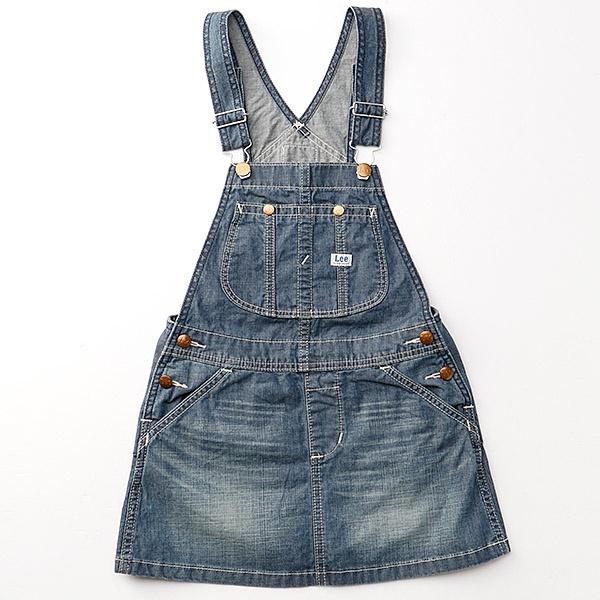 SALE 定番人気 新作製品 世界最高品質人気 オーバーオールスカート リーキッズ Lee 半額