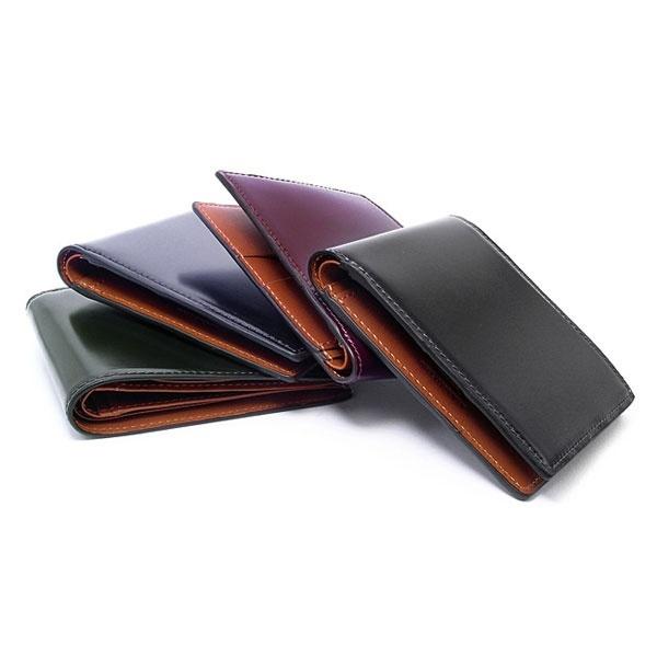 コードバン 二つ折り財布(小銭入なし)/プレリー1957(PRAIRIE SINCE1957)