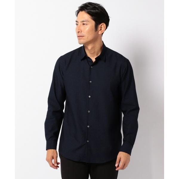 【洗える】スクエアウィーブサッカー シャツ/カルバン・クライン メン(Calvin Klein men)