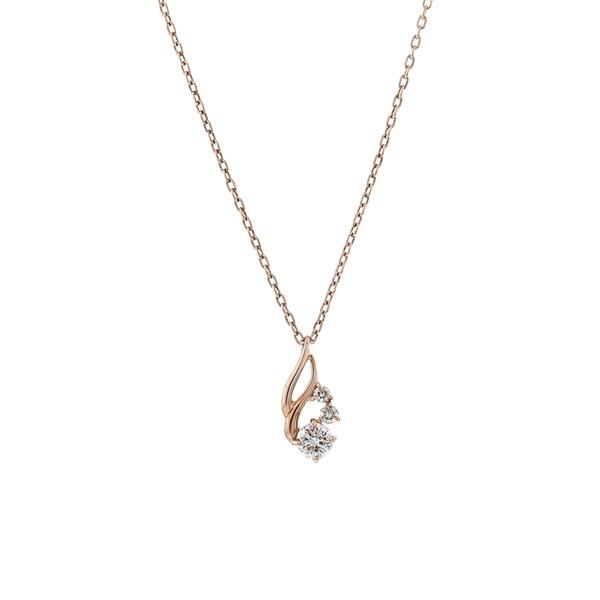 K10ピンクゴールドダイヤモンドネックレス/エステール(ESTELLE)