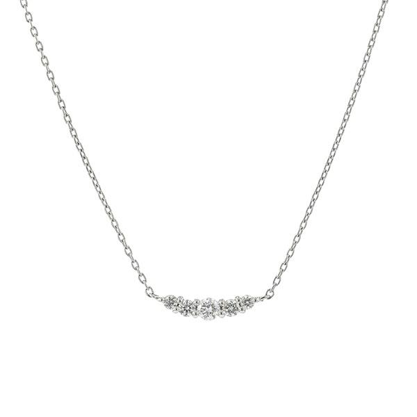 K18ホワイトゴールドダイヤモンドプチネックレス/エステール(ESTELLE)