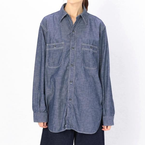 【orSlow】ヴィンテージフィット ワークシャツ WOMEN/ビショップ(レディース)(Bshop)