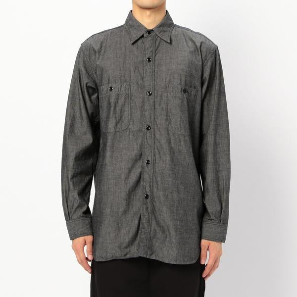 【orSlow】ヴィンテージフィット ワークシャツ MEN/ビショップ(メンズ)(Bshop)