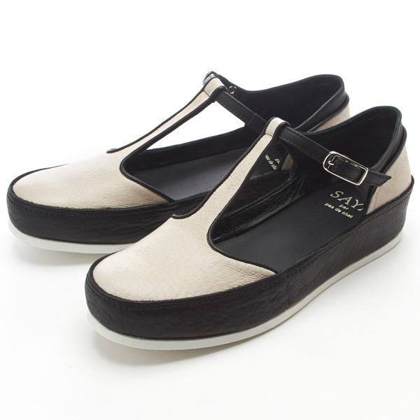 【ヒール高3cm・靴職人の生み出した履き心地】Tストラップシューズ/サヤ(SAYA)