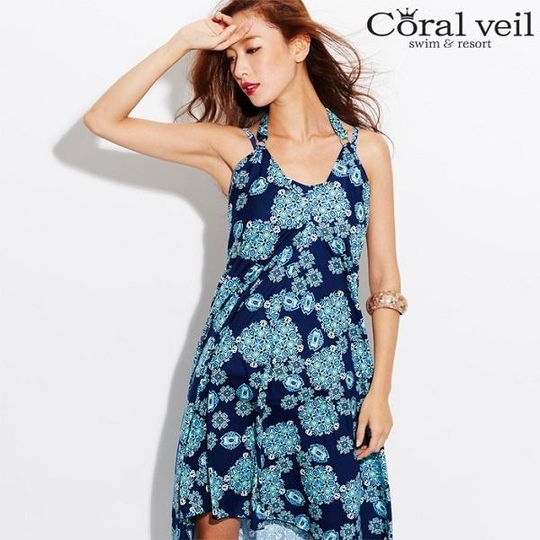 (Ai) 【新作】 keeeeeydl0101 (水着) アイ / (Coral Veil スムース ポンチョ) 【Mサイズ】 三愛水着楽園