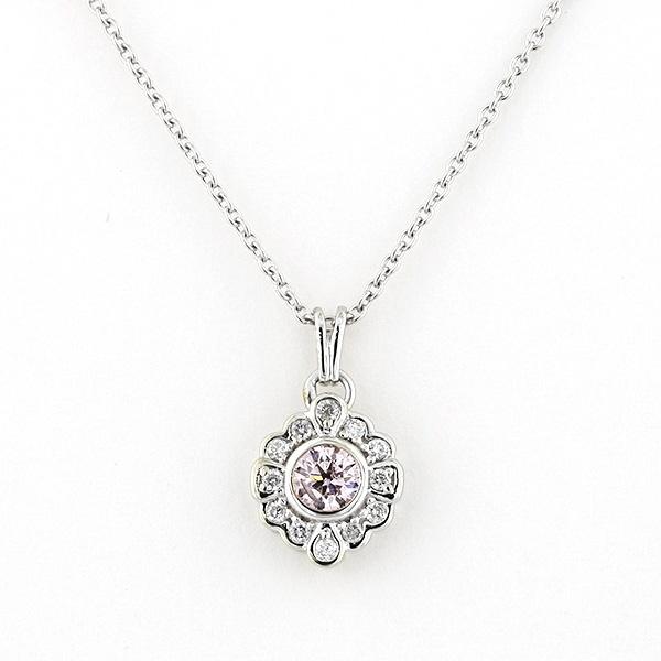 K18 ホワイトゴールド ピンクダイヤモンド ネックレス/エステール(ESTELLE)
