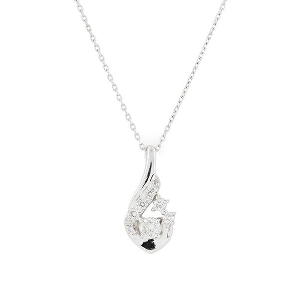 K18 ホワイトゴールド ダイヤモンド しずく ネックレス(0.16ct)/エステール(ESTELLE)