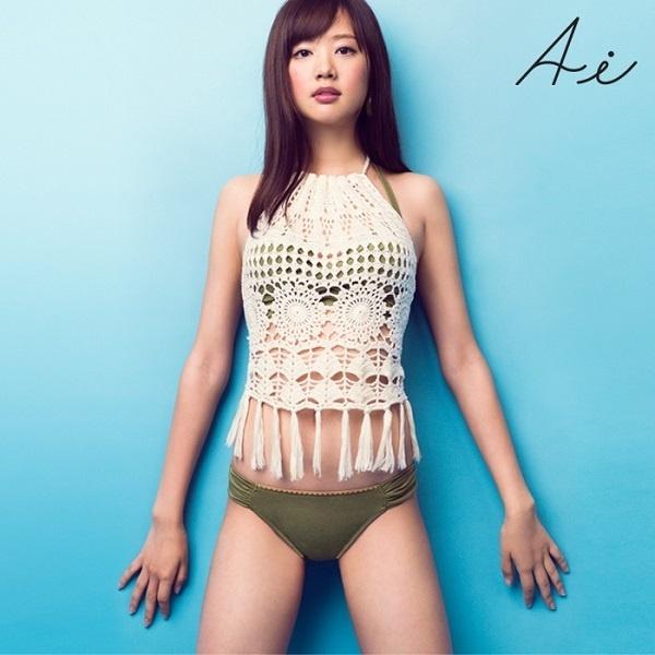 【新作】三愛水着楽園(Ai Pink ボヘムレーストレンティエア3点セット【9号サイズ】/アイ(水着)(Ai)