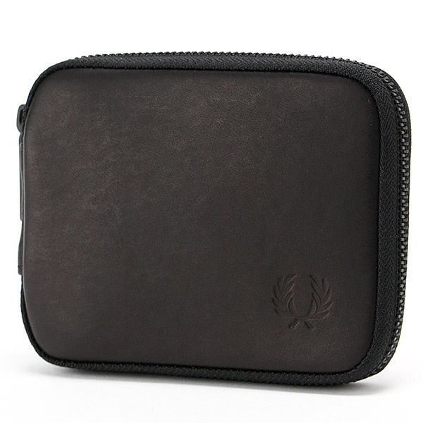 【17AW】ZIP AROUND LEATHER BILLFOLD/フレッドペリー(雑貨)(FRED PERRY)