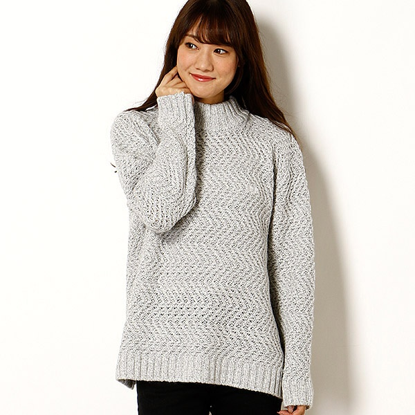 【17AW】MOCK NECK LOW GAUGE SWEATER/フレッドペリー(レディス)(FRED PERRY)