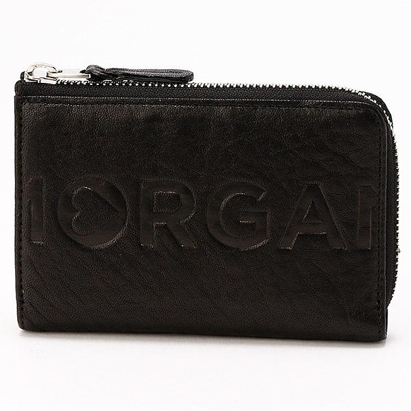 ロゴ二つ折り財布/モルガンオム(MORGAN HOMME)